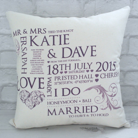 Wedding Keepsake Cushion