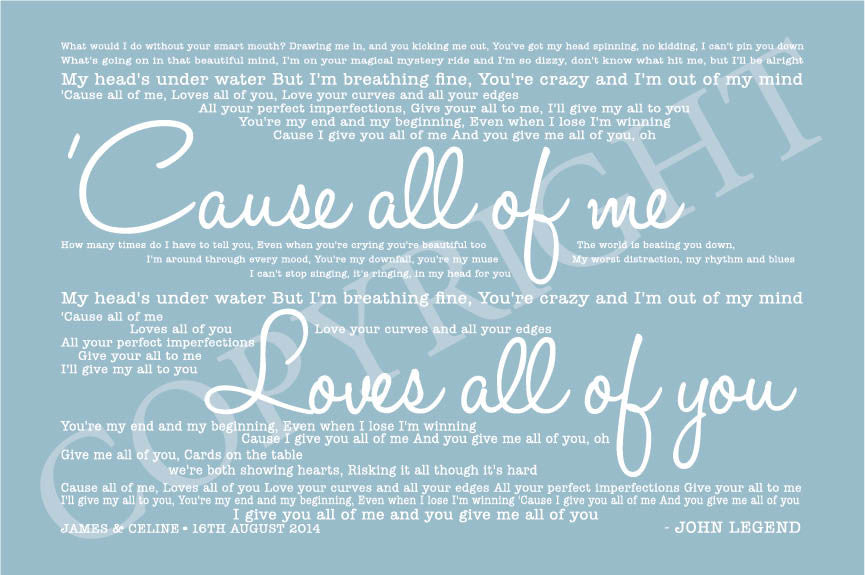 Lyric blue song lyrics : Song Lyrics Design - Digital Download | All Things Interior