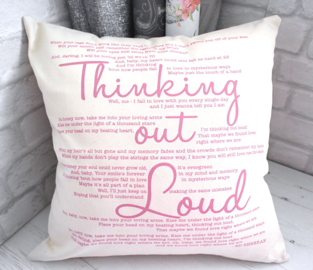 thinking out loud cushion all things interior