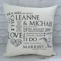 Anniversary Keepsake Cushion - All Things Interior