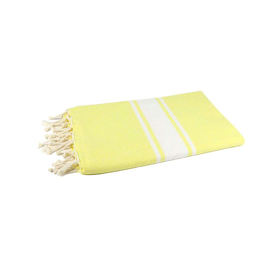 Fouta tissage plat couleur citron