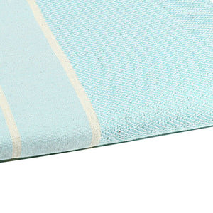 Fouta chevron couleur aqua zoom - by foutas