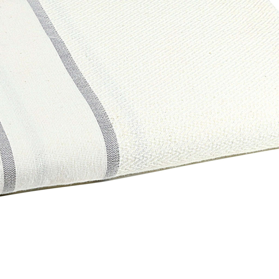 Fouta chevron couleur blanc zoom - by foutas
