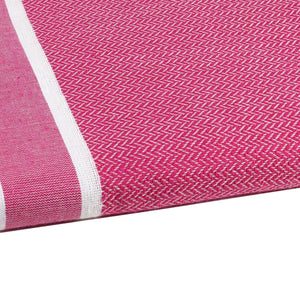 Fouta chevron couleur fuchsia zoom - by foutas