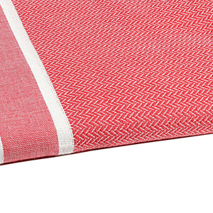 Fouta chevron couleur coquelicot zoom - by foutas