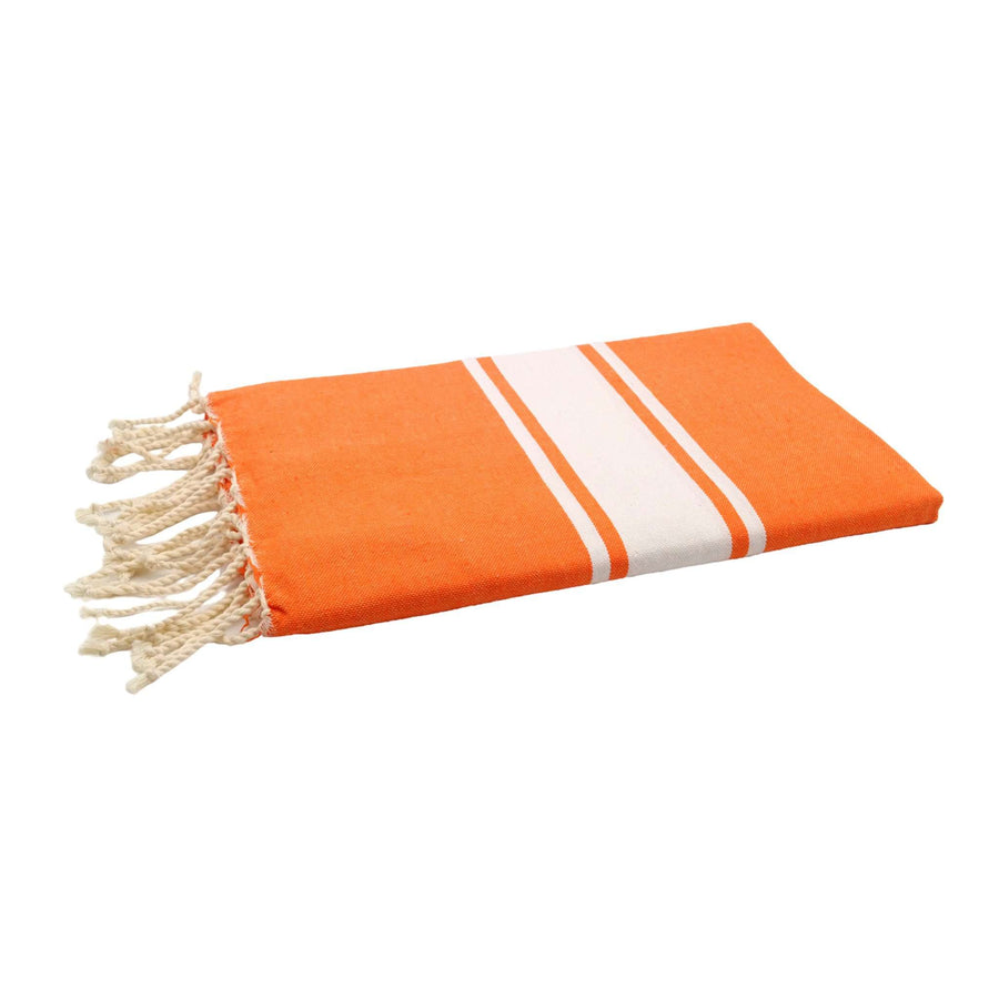 Fouta tissage plat couleur orange