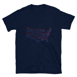 Divided United States, Short-Sleeve Unisex T-Shirt