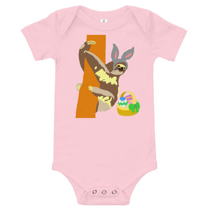 Easter bunny sloth and egg basket, onesie, T-Shirt