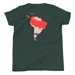 Cute Sloth, habitat map, Youth Short Sleeve T-Shirt