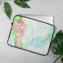 Load image into Gallery viewer, USA map Laptop Sleeve
