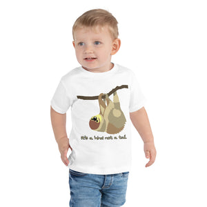 Funny Sloth, t-shirt, Toddler Short Sleeve Tee