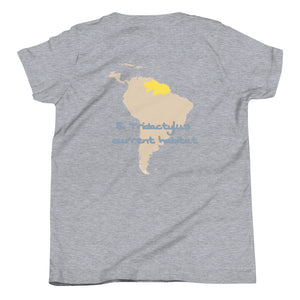 Calm Sloth, Habitat Range Map, Youth Short Sleeve T-Shirt
