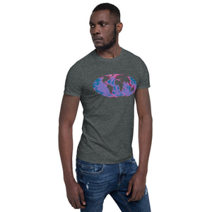 World, Sea floor map, Short-Sleeve Unisex T-Shirt