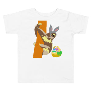 Easter bunny sloth, Toddler Short Sleeve Tee
