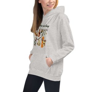 Cute Sloths on the front, descriptive habitat map in the back, Kids Hoodie