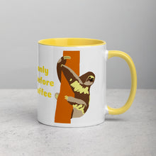 Load image into Gallery viewer, Funny sloth, morning coffee, Mug with Color Inside