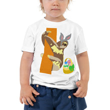 Load image into Gallery viewer, Easter bunny sloth, Toddler Short Sleeve Tee