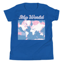 Load image into Gallery viewer, MY WORLD, Ocean Depth, Youth Short Sleeve T-Shirt