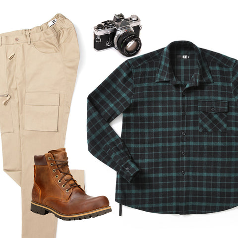 men's accessible camping outfit