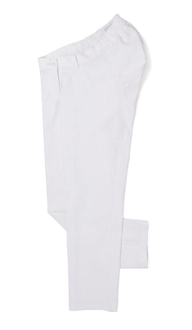 white ankle pants. adaptive fashion