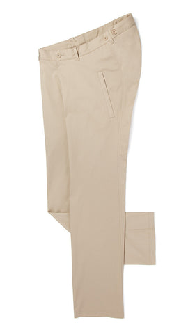 lightweight straight leg chinos in tan. accessible clothing.