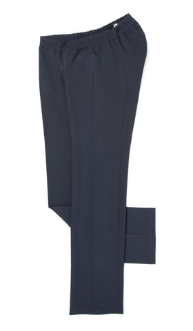 flat lay. accessible dress pants with elastic waist.