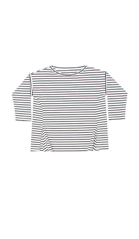 adaptive top. White with black stripes.