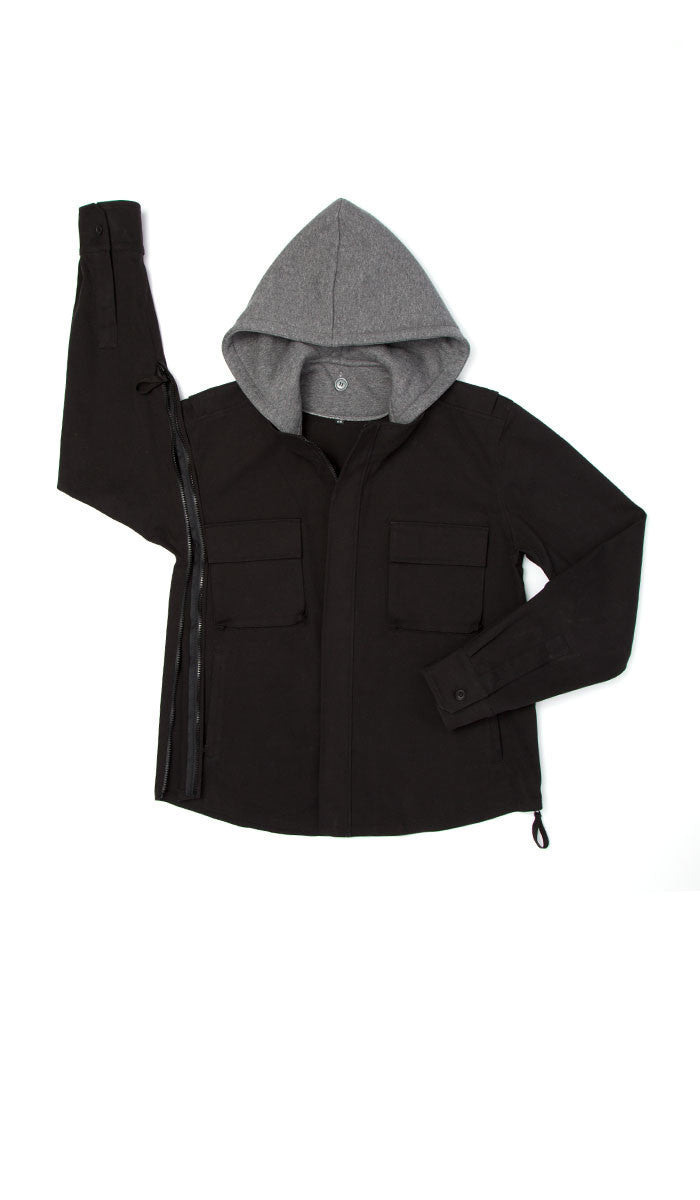 Spring Jacket Removable Hood
