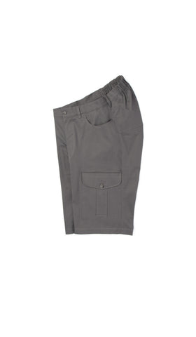adaptive grey cargo shorts. fashion for wheelchair users