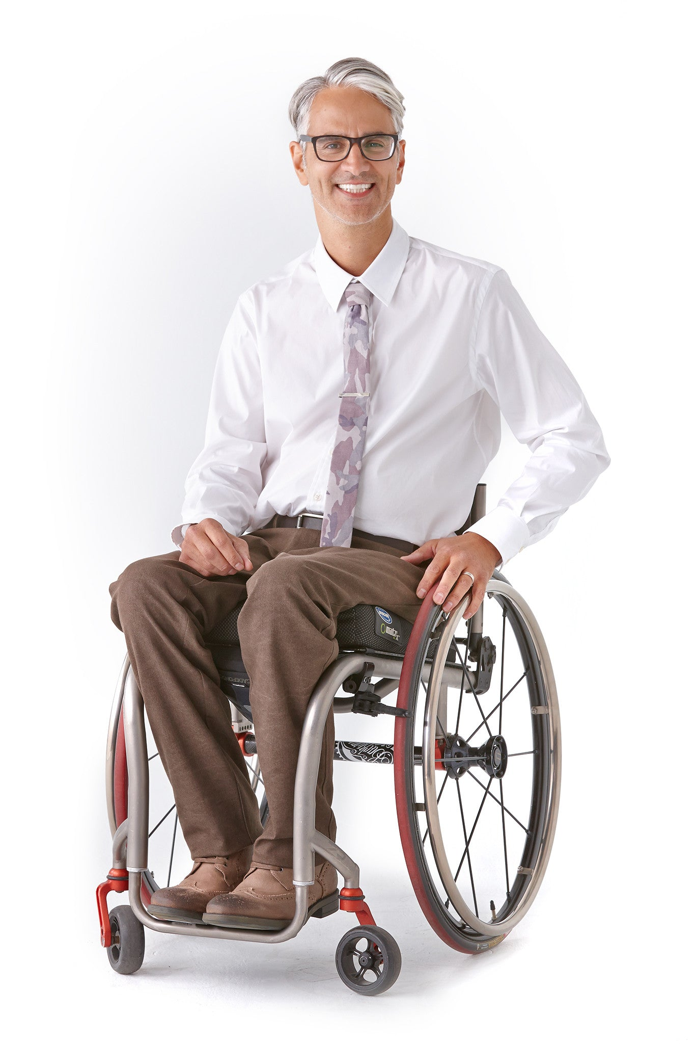 Men's Dress Shirt in White - Not your average disability clothing.