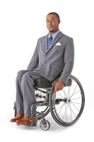 Men's Dress Pants in Grey - A new spin on easy access clothing.