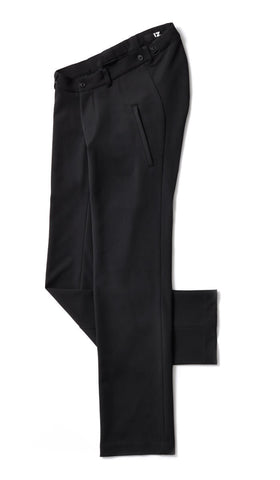 flat lay - adaptive dress pants, black
