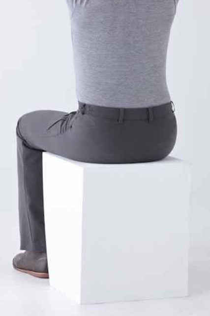 detail shot. adaptive dress pants for wheelchair users