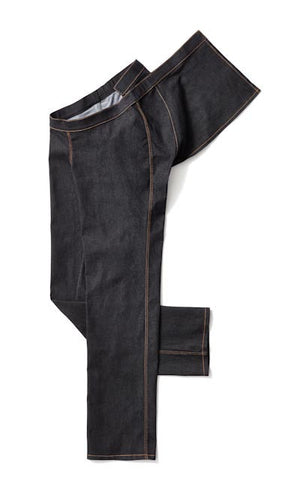 Men's Straight Leg Jeans Wrap Waist in Black - The latest styles in clothing for wheelchair users.