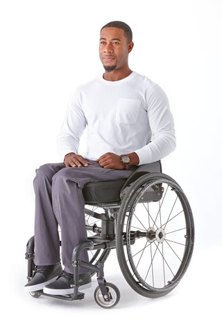 Men's Chino in Grey - The latest in wheelchair fashion.