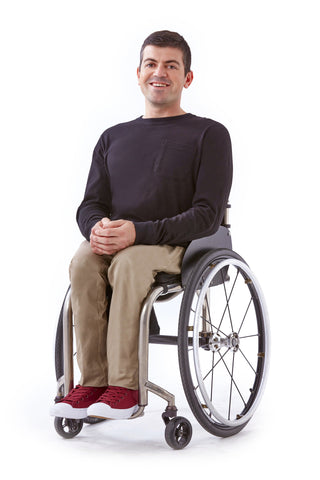 slim leg chino for wheelchair users
