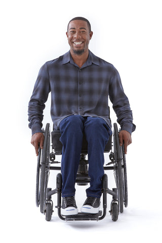 accessible plaid shirt for wheelchair users