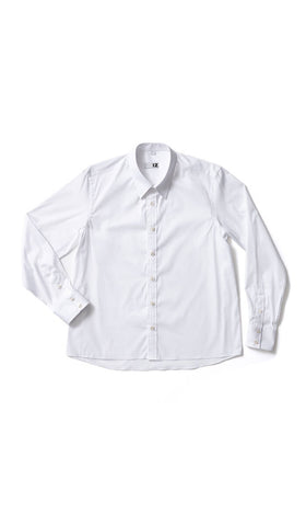 men's adaptive white dress shirt