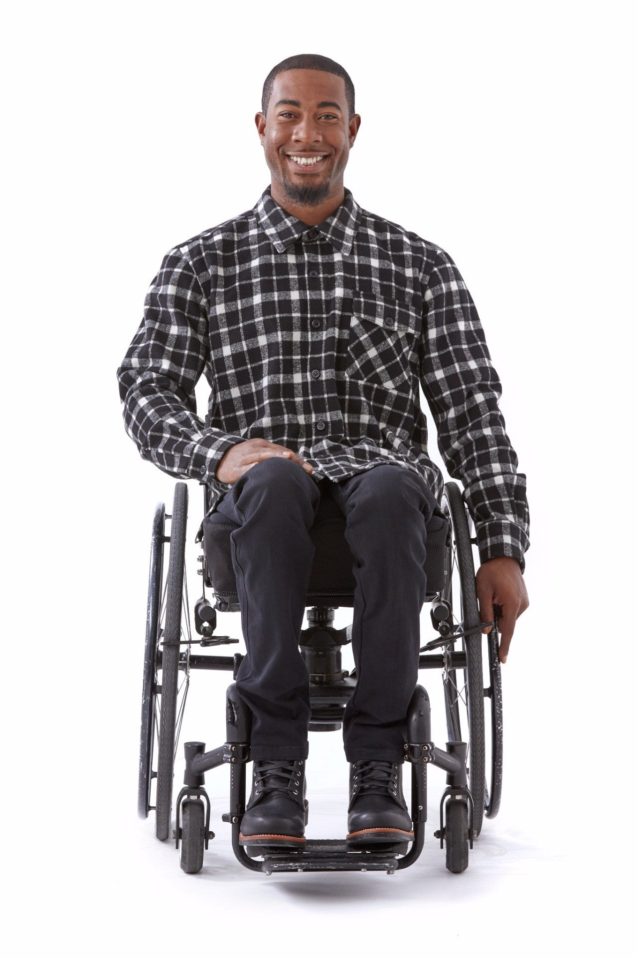 heavyweight plaid shirt for wheelchair users