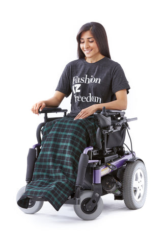 Plaid Lap Blanket - Ungendered adaptive fashion for wheelchair users