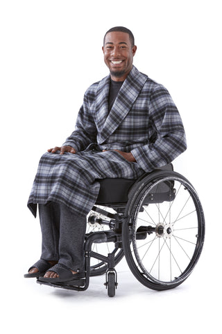 Plaid Robe - Stylish winter warmth for wheelchair users