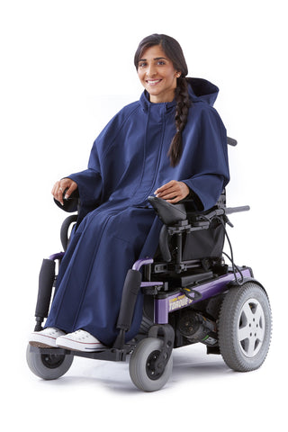 Rain Cape - Ungendered stylish adaptive fashion for wheelchair users