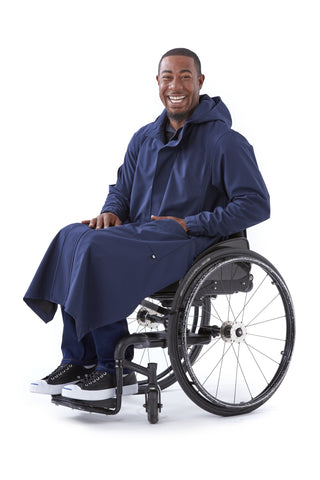 Rain Coat - Ungendered wet weather gear for wheelchair users