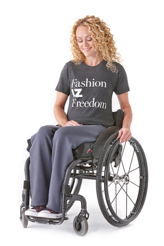 Fashion IZ Freedom Clothing designed with wheelchair users in mind.