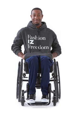 FAshion IZ Freedom Hoodie - Bold new looks in the world of adaptive apparel.