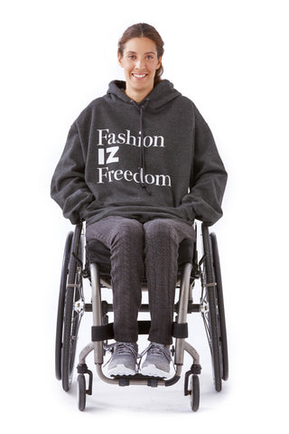 Fashion IZ Freedom hoodie for accessibility worldwide