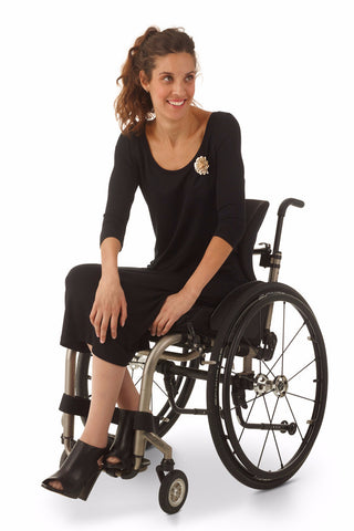 3/4 sleeve dress for wheelchair users
