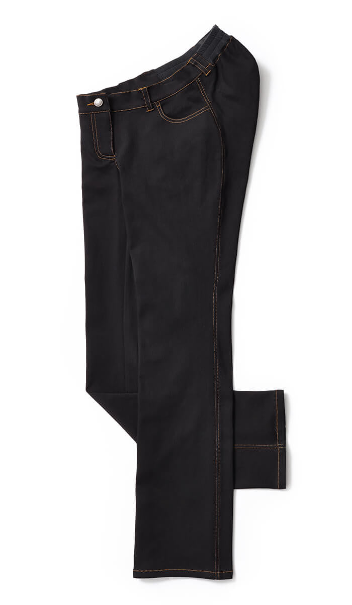 Classic Straight Leg Jeans with Zip Fly in Black - A fresh look at clothes for wheelchair users.