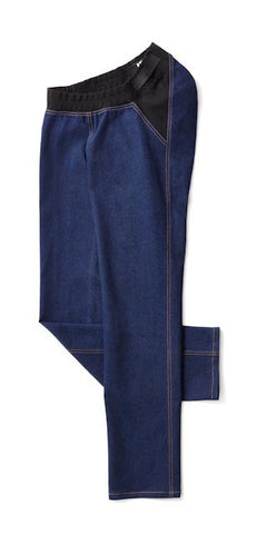 Straight Leg Jeans IZ Panel in Blue - A modern take on adaptive clothing for women.