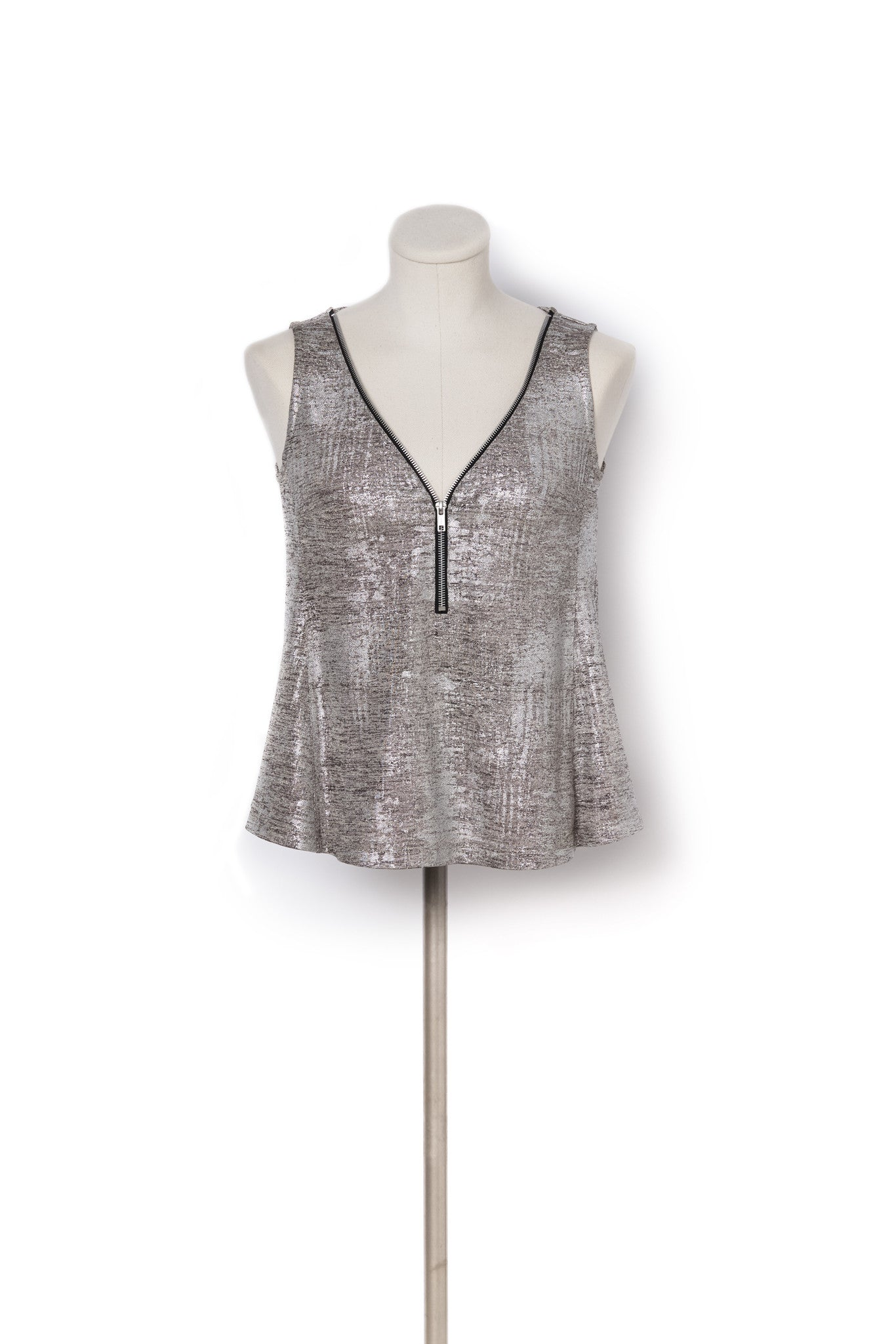Metallic Zip Tank - Womens adaptive fashion for wheelchair users